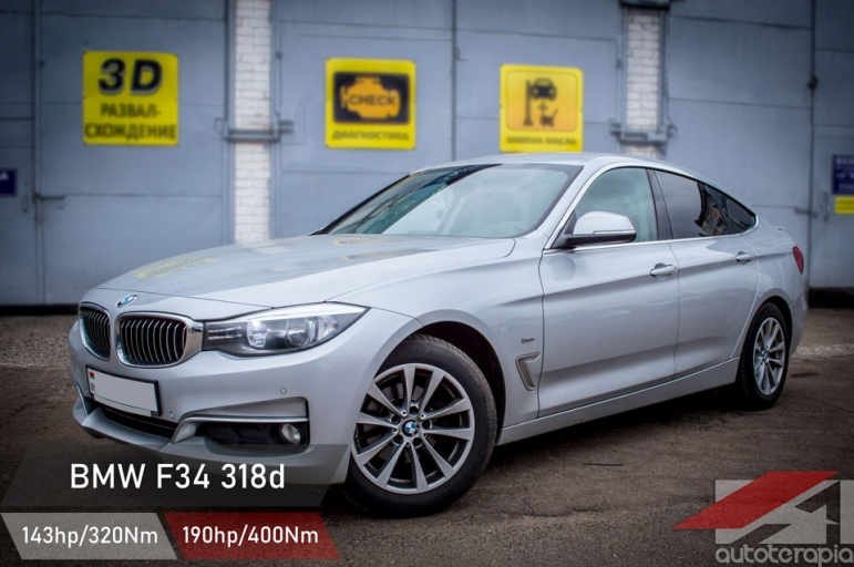 bmw F34 330d GT chip tuning